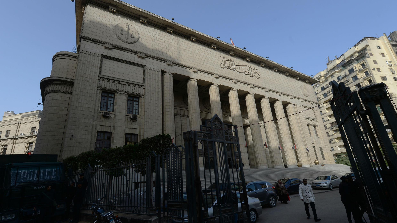 La Cour de cassation d'Égypte au Caire le 1er janvier 2015 pendant le procès de trois journaliste d'Al-Jazeera accusés de soutenir les Frères musulmans.