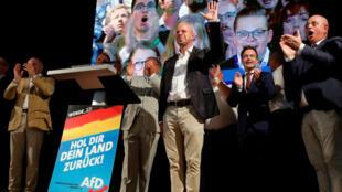 Andreas Kalbitz, el principal candidato de Alternativa para Alemania en Brandeburgo. 1 de septiembre de 2019.