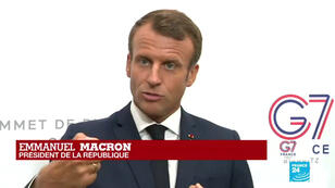 Emmanuel Macron à Biarritz, le 25 août 2019.