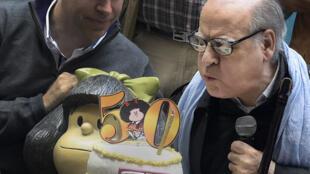 """Joaquin Salvador Lavado, dit """"Quino"""", créateur du personnage Mafalda."""