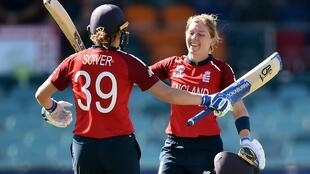 Concerns - England captain Heather Knight (right) has worries about the future of women's sport following the coronavirus outbreak