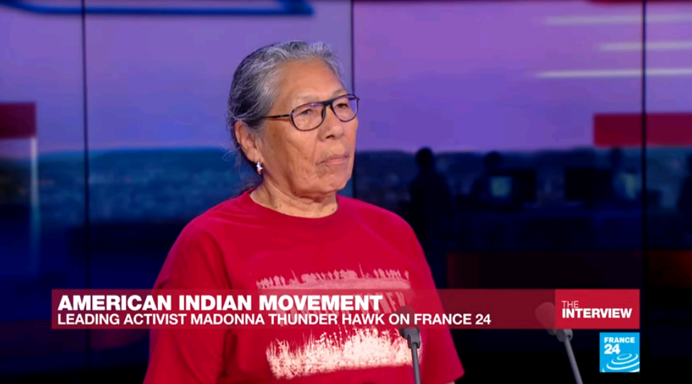FRANCE 24's Interview with American Indian activist Madonna Thunder Hawk