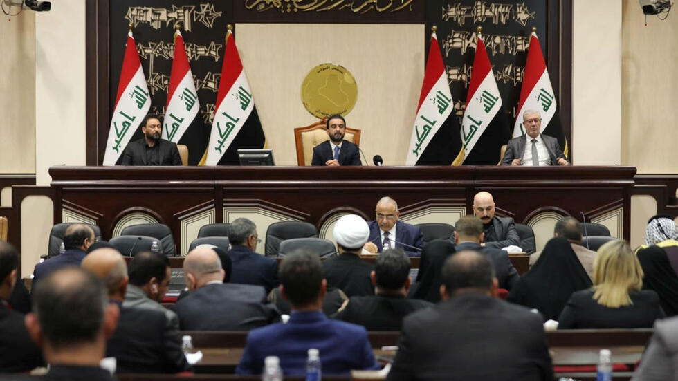 Members of the Iraqi parliament are seen at the parliament in Baghdad, Iraq January 5, 2020.