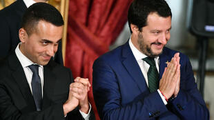 Le ministre de l'Intérieur Matteo Salvini et le vice-Premier ministre Luigi Di Maio.