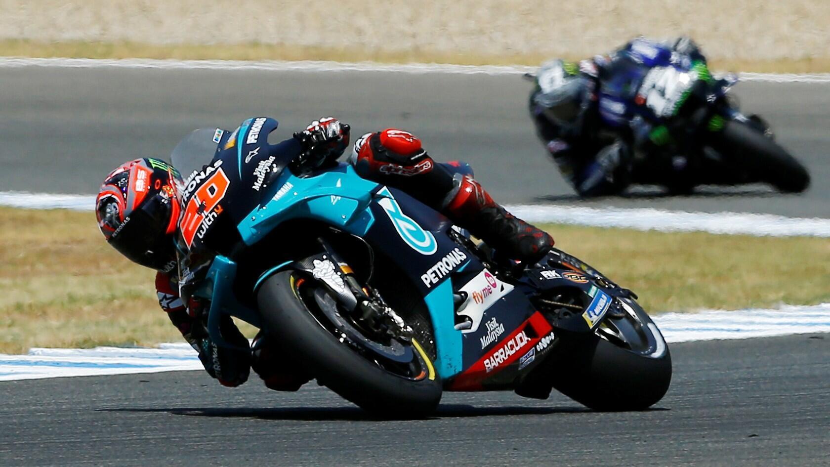 MotoGP - Gran Premio de España - Circuito de Jerez, Jerez, España - 19 de julio de 2020. Fabio Quartararo en acción durante la carrera.