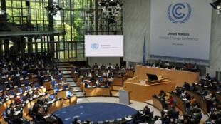Le QG du département de la Convention-cadre des Nations unies sur les changements climatiques (CCNUCC) à Bonn, en Allemagne.