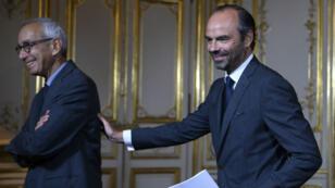 Le Premier ministre Édouard Philippe et l'économiqste Jean Pisani-Ferry, le 25 septembre, à Matignon.