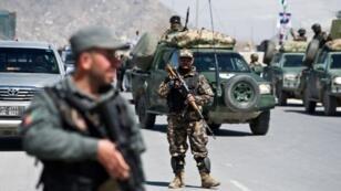 Forces de sécurité en Afghanistan.
