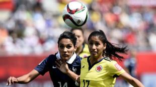 Louise Necib n'est pas parvenue a prendre le dessus sur l'équipe de Colombie et la France s'est inclinée 2-0.