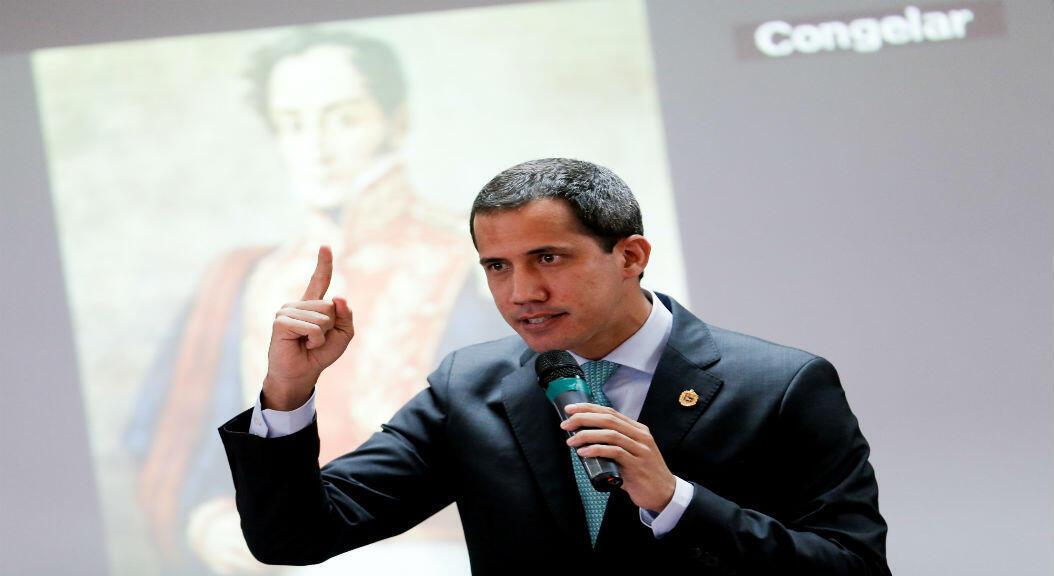 El opositor y presidente de la Asamblea Nacional de Venezuela, Juan Guaido, en una rueda de prensa en Caracas, el 3 de septiembre de 2019.