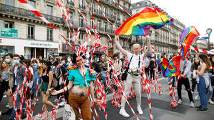 Unofficial gay pride Paris