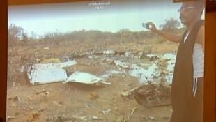 Premières images des débris de l'avion du vol AH5017