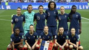 L'équipe de France à la Allianz Riviera de Nice mercredi 12 juin.