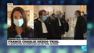 2020-09-22 14:10 France Charlie Hebdo Trial: 14 suspected accomplices go on trial in Paris