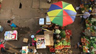Le marché principal de Bissau.