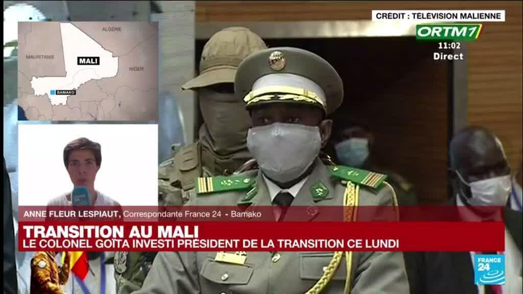 2021-06-07 13:01 Transition au Mali : la cérémonie d'investiture d'Assimi Goïta commence à Bamako