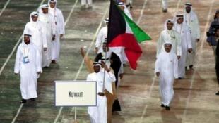 الوفد الأولمبي الكويتي خلال مشاركته في أولمبياد سيدني 2000