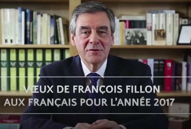 Right-wing presidential nominee François Fillon on his YouTube channel