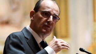 Le Premier ministre, Jean Castex, à la tribune du Sénat, le 16 juillet 2020 à Paris