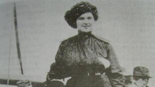Un portrait de Marina Yurlova à Vladivostok, lors de son départ pour le Japon en 1919.