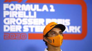 Le pilote britannique de McLaren Lando Norris, le 9 juillet 2020 à Spielberg en Autriche