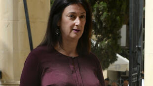 Daphne Caruana Galizia assistait régulièrement aux procès pour corruption au tribunal de Malte, comme ici le 24 avril 2017.