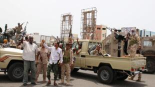 قوات تابعة للمجلس الانتقالي الجنوبي في عدن. 10 أغسطس 2019