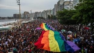 The Supreme Federal Court of Brazil voted eight to three to criminalize homophobia in the country (pride parade pictured in September 2018)