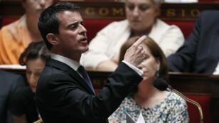 Le Premier ministre Manuel Valls, le 20 juillet 2016 à l'Assemblée nationale.