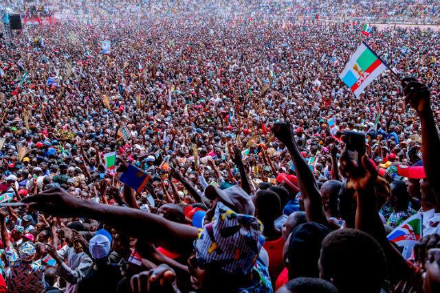 Meeting de campagne de Muhammadu Buhari dans l'État de Taraba, le 7 février 2019.
