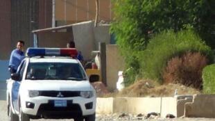 سيارة للشرطة العراقية في كركوك 21 اكتوبر 2016