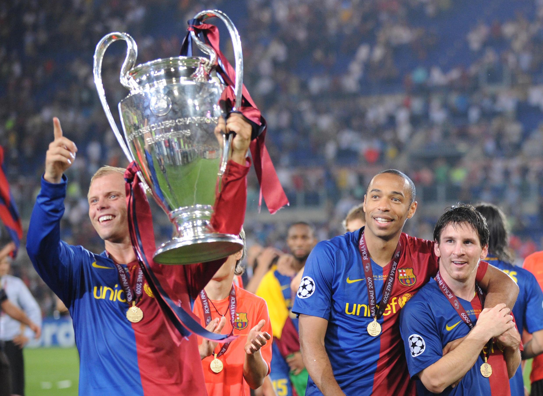 En 2009, Lionel Messi remporte sa première Ligue des champions en tant que titulaire du FC Barcelone.