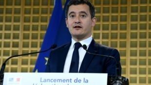 Conférence de presse de Gérald Darmanin à Paris le 9 avril 2019