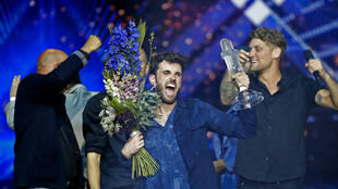 Le candidat néerlandais Duncan Laurence, grand gagnant de la 64e édition de l'Eurovision, à Tel Aviv le 18 mai 2019.