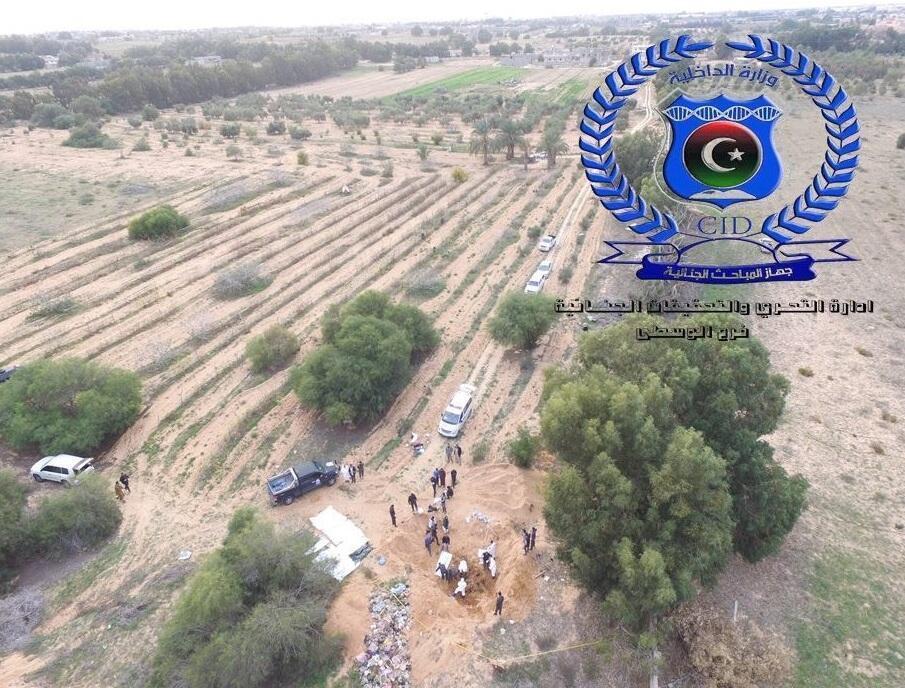 موقع المقبرة الجماعية التي تضم رفات مسيحيين إثيوبيين في ليبيا