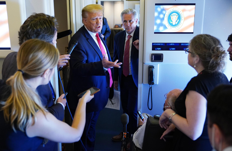 دونالد ترامب متحدثا إلى الصحافيين في 30 مايو/أيار 2020