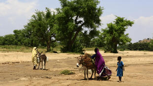 Sudanese villagers pictured last year in Darfur, following their return home after more than a decade of being displaced by violence