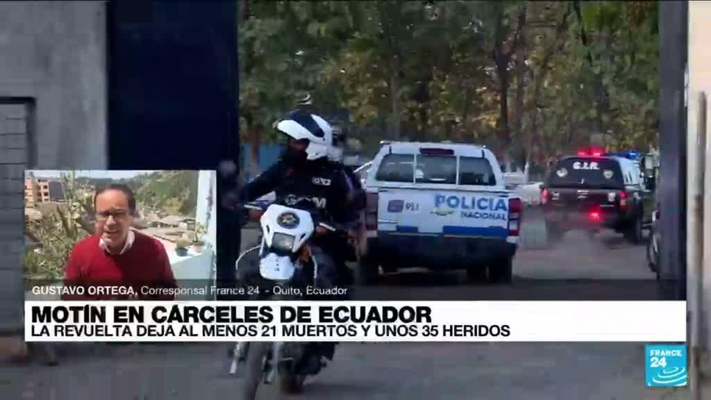 2021-07-22 23:01 Informe desde Quito: nuevos motines en cárceles de Ecuador dejaron 21 personas muertas