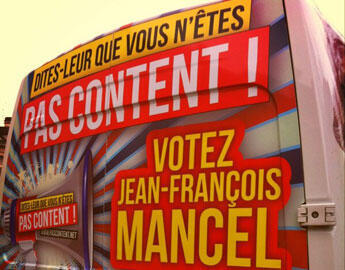Camion de campagne de Jean-François Mancel