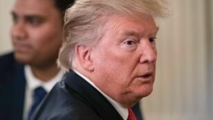 Le président américain, Donald Trump, à la Maison Blanche à Washington, le 25 juillet 2019.