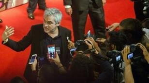 """Oscar-winning Mexican director Alfonso Cuaron -- shown here attending a screening of his latest film """"Roma"""" in Mexico in October 2018 -- is believed to once again be an Academy Award contender"""