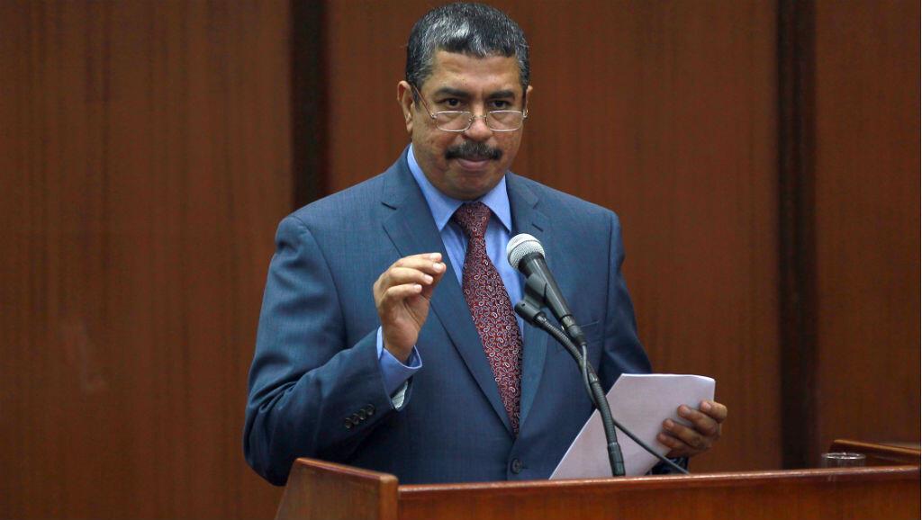Khaled Bahah lors d'une session parlementaire à Sanaa le 19 mai 2014.