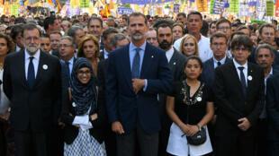 Le roi Felipe VI est devenu le premier souverain espagnol à participer à une manifestation depuis 1975.