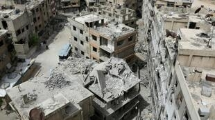 Western powers blamed the Syrian regime for the deadly attack on Douma and unleashed air strikes in response