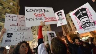 مظاهرة في القاهرة ضد التحرش الجنسي، فبراير 2013
