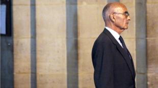 Le général Rondot à Paris lors du procès Clearstream, en octobre 2009.