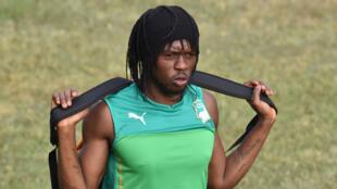 L'Ivoirien Gervinho, blessé et forfait pour la CAN-2017.