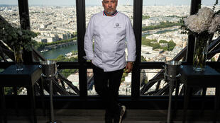 French chef Frederic Anton is back cooking in his Jules Verne restaurant on the Eiffel Tower