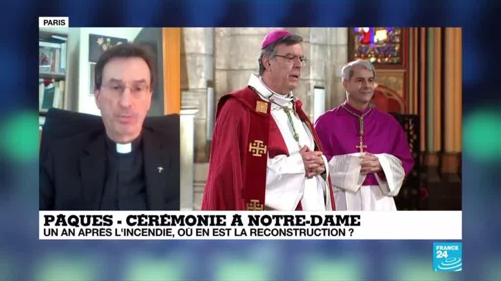 2020-04-10 12:00 Pâques : Le vendredi Saint célébré à huis clos à Notre-Dame