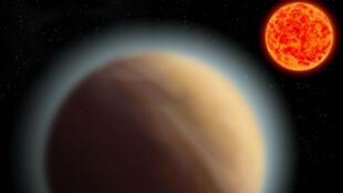 Une équipe d'astronomes a détecté une atmosphère autour d'une exoplanète située à 39 années lumière de la Terre.
